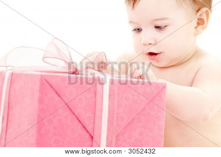 Baby Boy With Gift Box #2