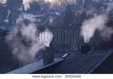 Chimneys Of Residential Houses