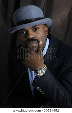 African american cute black young man