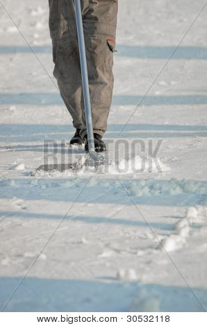Worker Cleaning The Streets