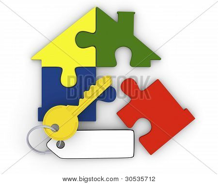 Key From Puzzle Home