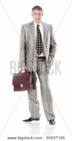 The elegant  businessman