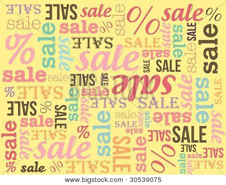 Sale banner on yellow background