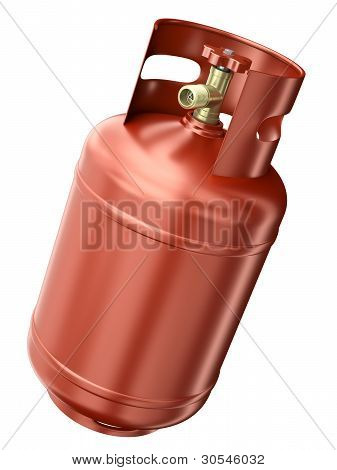 Red gas container