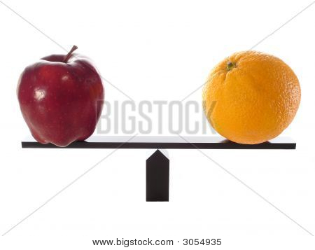 Apple And Orange Balanced
