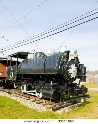 steam locomotive, Groveton, New Hampshire, USA
