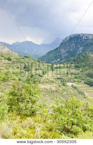 landscape near Comps sur Artuby, Provence, France