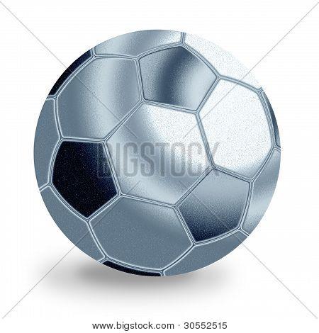 Silver Football Ball