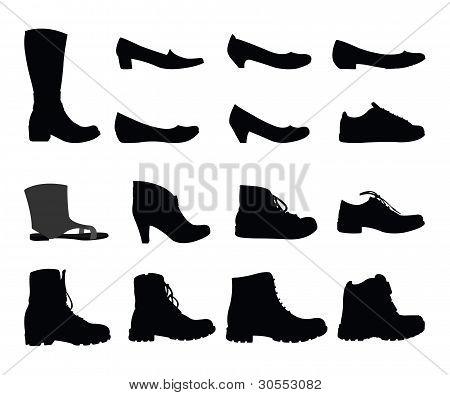 Shoe silhouetts