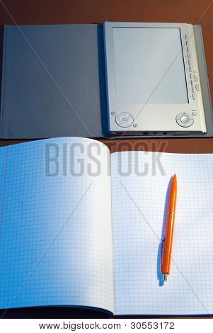 New Square Lined Exercise Book With E-book