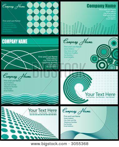 Set Of Business Card Designs