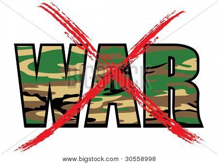 Anti-war vector symbol