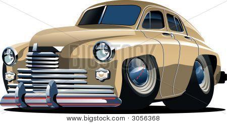 Vektor-Cartoon-Retro-Auto