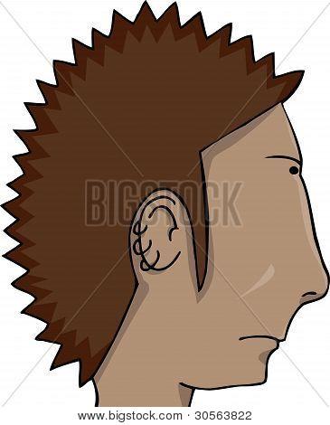 Spiked Hair Man