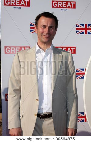 LOS ANGELES - FEB 24:  Rt. Hon. Jeremy Hunt, UK Secretary of State for Culture, Olympics, Media and Sport arrives at the GREAT British Film Reception on February 24, 2012 in Los Angeles, CA.