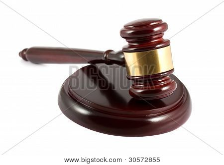 Wooden Gavel And Sound Block