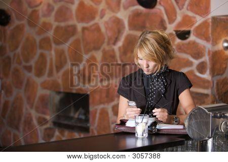 Pretty Woman In The Bar