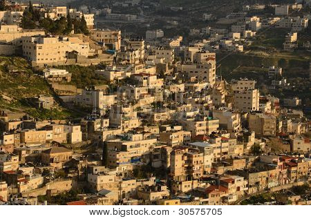 Arab village on the slope of Mount of Olives in Jerusalem, Israel.