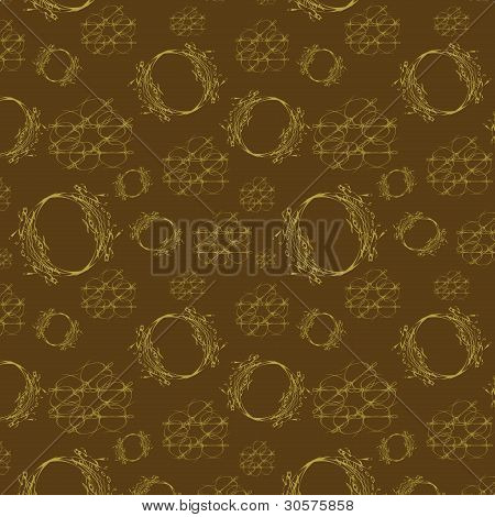 Seamless Light Pattern On Brown Background