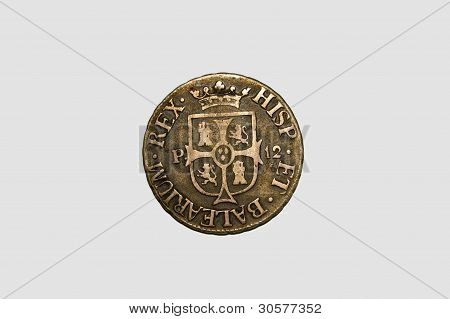 Ancient Spanish coin