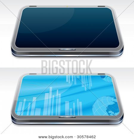 Generic Touchscreen Tablet PC, Vector Illustration