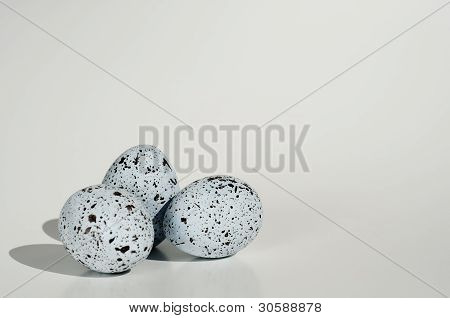 Three Spotted Eggs Grouped Isolated