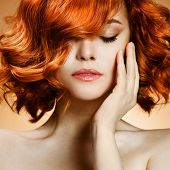 stock photo of red hair  - Beauty Portrait - JPG