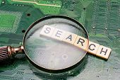 Search Results From Search Engine Query, Searching The Internet poster
