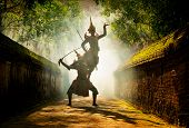 Art Culture Thailand Dancing In Masked Khon In Literature Ramayana,thai Classical Monkey Masked, Kho poster