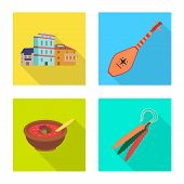 Vector Design Of Culture And Sightseeing Sign. Collection Of Culture And Originality Vector Icon For poster