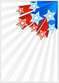 Patriotic Background American Flag Color. American Patriotic Backgrounds With Stars And Balloons. Ve poster