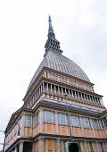 Upper Part Of The Old Monumental Building In Torino In Northern Italy poster