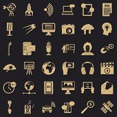 Multimedia Things Icons Set. Simple Set Of 36 Multimedia Things Vector Icons For Web For Any Design poster