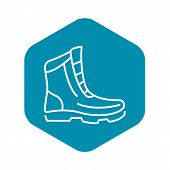 Winter Boot Icon. Outline Winter Boot Vector Icon For Web Design Isolated On White Background poster