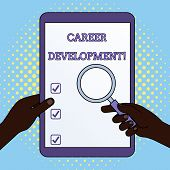 Word Writing Text Career Development. Business Concept For Lifelong Learning Improving Skills To Get poster