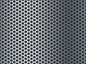 Metal Texture Pattern. Seamless Steel Plate, Stainless Mesh. Chrome Hexagon Mosaic Grunge Aluminum P poster