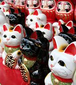 foto of nacked  - Large group of Japanese beckoning cat statues - JPG