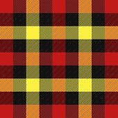 Tartan Plaid. Scottish Pattern In Red, Black And Yellow Cage. Scottish Cage. Traditional Scottish Ch poster