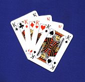 picture of playing card  - high resolution play cards casino blue background - JPG