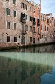 Venice, Italy, historic tenements and Grand Canal poster