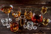 Selection Of Hard Strong Alcoholic Drinks poster