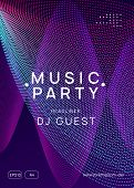 Techno Event. Dynamic Gradient Shape And Line. Trendy Show Banner Template. Neon Techno Event Flyer. poster