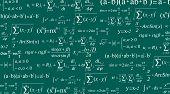Creative Illustration Of Math Equation, Mathematical, Arithmetic, Physics Formulas Background. Art D poster