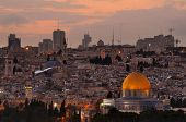 stock photo of aqsa  - Skyline of the Old City of Jerusalem - JPG