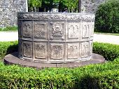 stock photo of septic  - Ornate lead lined septic tank from The Castle of S - JPG