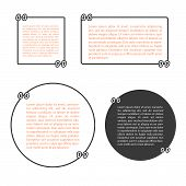 Template Vector Set With Quotes. Quote Blank Template.empty Template.business Card Template, Paper S poster