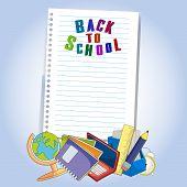 Back To School Design. Vector Illustration Back To School Design. Vector Illustration Design Back To poster