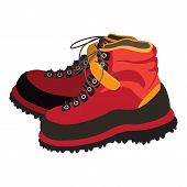 Climbing Boots Icon. Cartoon Of Climbing Boots Vector Icon For Web Design Isolated On White Backgrou poster
