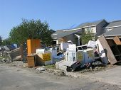stock photo of katrina  - hurricane katrina flood damage cleanup