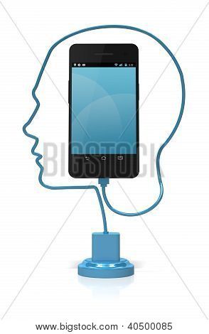 Smart-Smartphone-Kopf